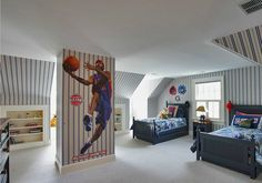 Discover some of the most beautiful kids room design for two kids. Use our decor tips and ideas to create the best kids bedroom design for your little ones. Bedroom Themes, Kids Bedroom, Bedroom Ideas, Teen Bedrooms, Boy Rooms, Basketball Bedroom, Kids Room Design, Design Bedroom, Boys Room Decor