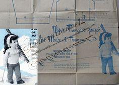❤ Patron original, poupée Marie Françoise MODES ET TRAVAUX, Février 1963 ❤ : 4,99EUR
