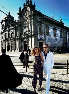 Gigi Hadid & Domhnall Gleeson - Vogue