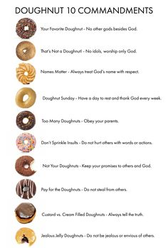 Use doughnuts to teach kids the 10 Commandments. Yummy!