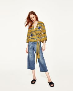 ZARA - WOMAN - STRIPED SHIRT WITH PATCHES