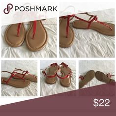 BCBG Red Patent Bow Sandals size 8 BCBG Red Patent Bow Sandals size 8. Excellent Condition. Worn once. BCBG Shoes Sandals