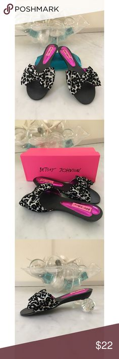 ▪️Host Pick 8•10•17▪️Betsey Johnson Flats/Slippers Glamorous.....yet fun  Betsey Johnson Slippers made of silver lame' and black velvet. Carlieee Leopard is on my box. I've worn them in my house once or twice, that's it. Any questions, please ask prior to purchase😊 Thanks for looking🌴 Betsey Johnson Shoes Flats & Loafers