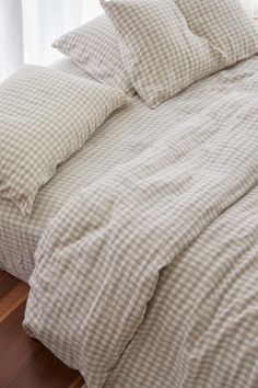 Ultra luxurious pure French linen quilt cover in Beige Gingham Dream Bedroom, Home Bedroom, Bedroom Decor, Bedrooms, Entryway Decor, Room Goals, Aesthetic Room Decor, Home Interior, Interior Colors