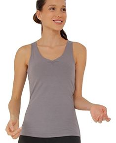 #OrganicCotton Fitness Top, Workout Tops, Basic Tank Top, Athletic Tank Tops, Organic Cotton, Outdoors, Clouds, Amazon, Grey