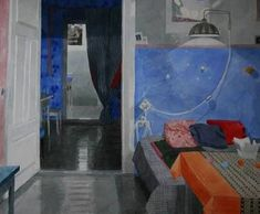 Watercolour, Interior, Painting, Art, Kunst, Pen And Wash, Art Background, Watercolor Painting, Indoor