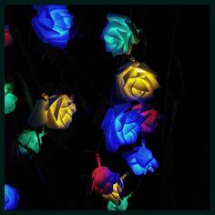 2018 Christmas 9 Colors LED String 10M 80 Wedding Roses Decoration Lights para la fiesta de boda de vacaciones Home Decor.
