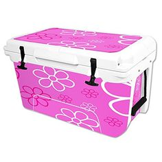 MightySkins Protective Vinyl Skin Decal Wrap for RTIC 45 qt Cooler cover sticker Flower Power >>> You can get additional details at the image link.