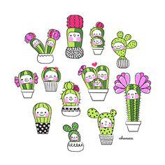 Cacti by Charuca Vargas, via Behance
