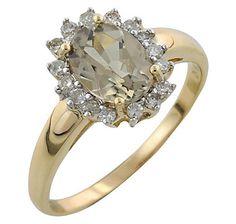 14k Gold Zultanite & Diamond Ring