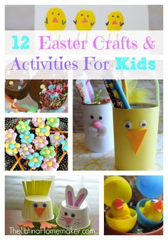 12 Fun Easter Crafts and Activities For Kids. #Easter #crafts
