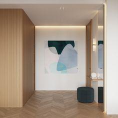 Hallway Interior Architecture, Interior And Exterior, Hallway Colours, Kitchen Dining Living, Dining Area, Interior Styling, Interior Design, Minimalist Apartment, Flat Ideas