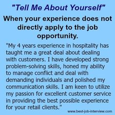 "Tell me about yourself""- sample interview answers #Jobinterviewquestions"