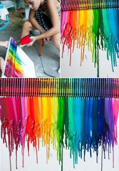 How to make colorful wall art docor with crayons step by step DIY tutorial instructions, How to, how to do, diy instructions, crafts, do it yourself, diy website, art project ideas