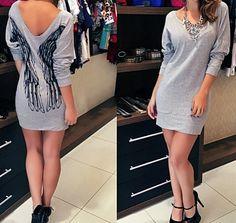 Vestido Moletom ASAS - Boutique Amor Amor