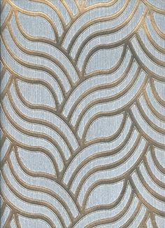 York Wallcoverings ET2009 Enchantment Nouveau Wallpaper, Graphite/Pewter Sheen