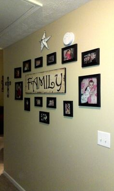 Family collage wall.