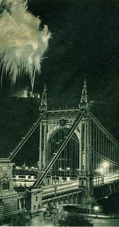 Tűzijáték 1937 Vintage Architecture, Brooklyn Bridge, Homeland, Hungary, Places Ive Been, Street Art, To Go, Germany, Travelling