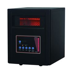 Comfort Glow - D&H Comfort Glow Electric Heater - Black, QDE8600