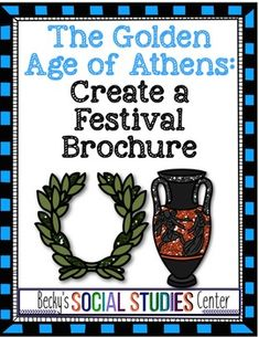 Golden Age of Athens, Ancient Greece - Create a Festival Brochure Middle School Activities, School Resources, Eighth Grade, Seventh Grade, Classical Athens, Rubrics For Projects, Ancient World History, Teaching Geography, Project Based Learning