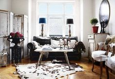 Eclectic and Moody Scandinavian Home