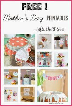 Free Mother's Day printables- gifts Mom will love to get!