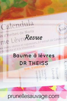 Le baume à lèvres au calendula du Dr Theiss #prunellesauvage #beaute #skincare #soin #blog #drtheiss