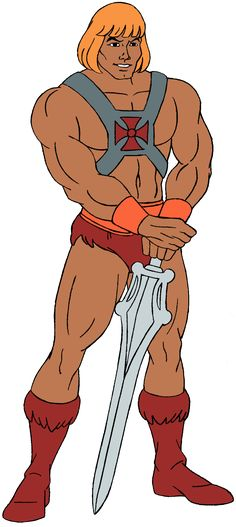It's He-Man come on now. He would influence me by keeping body proportions fairly close to the human proportions since I would have to animate a character copying a human dancing. Old Cartoons, Classic Cartoons, He Man Desenho, Comic Movies, Comic Books, Hee Man, Robert E Howard, Master Of The Universe, Cartoon Costumes