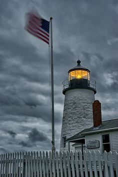 Pemaquid Lighthouse, Maine - the skies say it all as to why these lighthouses have been such an important piece of Maine's maritime history. | See Maine in the AAA Maine, New Hampshire & Vermont TourBook guide | originally pinned from flickr by Maine Vacations | www.aaa.com/travel