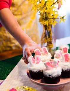 Easter Bunny Red Velvet Cupcakes! <3