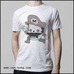 Ropa: Playera Hombre Mario Bros como zombie y más playeras para gamers Ilustración Personajes