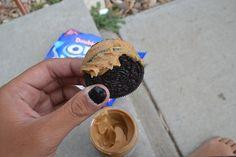 oreos with peanut butter:) my fav