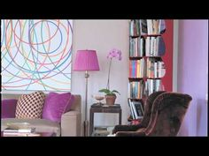 The kaleidoscopic king and queen of color discuss palettes, inspirations, and icons in this tête-à-tête. Jamie Drake, Celerie Kemble, Home Tv, Curtains, Youtube, Inspiration, Color, Home Decor, Biblical Inspiration