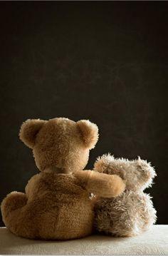 .Momma teddy loves her little one   I loved you like that....Still do....Always will