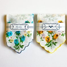 Hankies! Such a different idea! Get each one personally embroidered.