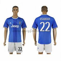 Fodboldtrøjer Series A Juventus 2016-17 Asamoah 22 Udebanetrøje