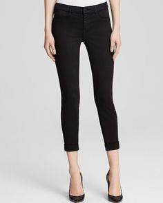 198.00$  Watch now - http://vidct.justgood.pw/vig/item.php?t=oxrp7c8939 - J Brand Luxe Sateen Anja Cuffed Crop Jeans in Black 198.00$