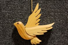 PEACE DOVE CHRISTMAS Ornament Wood by GielishWoodSculpture on Etsy