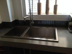 My Concrete Worktop + Bespoke Stainless Steel Sink