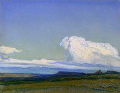 Desert Scene - Maynard Dixon , 1922 American, 1875 – 1946 Oil on canvas
