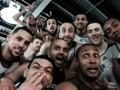 San Antonio Spurs selfie! @san pan Antonio Spurs I love that little booger searching Danny Green!! Lmao!