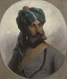 Native Officer of the 13th Bengal Lancers, whilst stationed in Malta in 1878