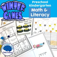 Winter games math and literacy Olympic games math and literacy activities for preschool and kindergarten
