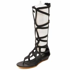 Women Summer Fashion Outdoor Bohemia Gladiator Flat Knee High Zipper Sandals Sho - US$35.78