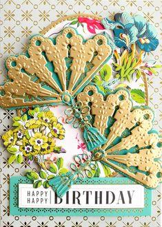New birthday card design inspiration anna griffin ideas Cool Birthday Cards, Birthday Card Design, Birthday Cards For Friends, Handmade Birthday Cards, Greeting Cards Handmade, Birthday Wishes, Birthday Parties, Happy Birthday, Card Making Inspiration