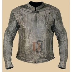 Vulcan Men's NF-8150 Distressed Leather Motorcycle Jacket