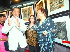 Neville Tuli and Saira Banu at The Two Thespians - Dilip Kumar and Marlon Brando festival at Osianama in Liberty Cinema