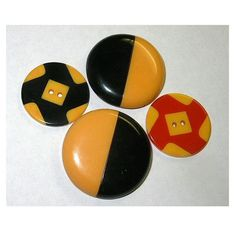 Antique Bakelite Buttons 2 Tone Cookies Black by xurple on Etsy, $28.00