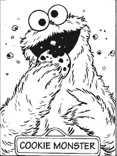 Cookie Monster Coloring Pages!