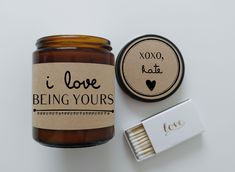 Valentines Day Gift for Boyfriend I Love Being Yours Holiday Gift Soy Candle Gift for Girlfriend Scented Candle Christmas Gift for Him
